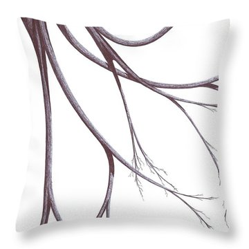 Long Branches Throw Pillow by Giuseppe Epifani