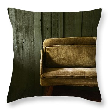 Long Wait Throw Pillow by Margie Hurwich