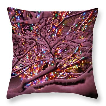 Longwood Lights 1 Throw Pillow by Richard Reeve