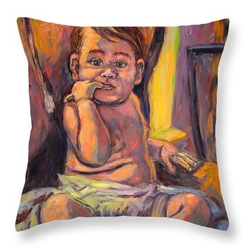 Looking At Me Throw Pillow by Kendall Kessler