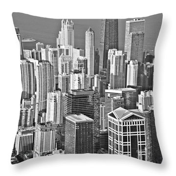Looking Down At Beautiful Chicago Throw Pillow by Christine Till