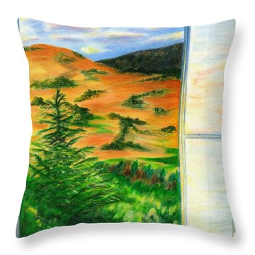 Looking Out The Window Throw Pillow by Colleen Ward