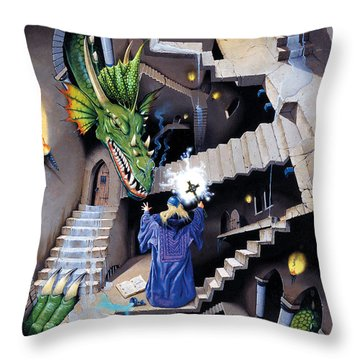 Lord Of The Dragons Throw Pillow by Irvine Peacock