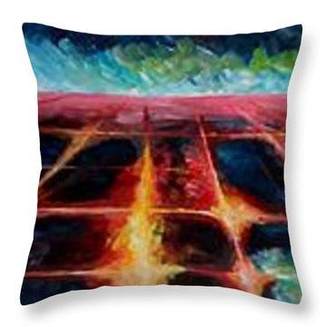 Los Angeles At Night From Mountains Throw Pillow by M Bleichner