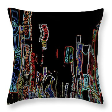 Losing Equilibrium - Abstract Art Throw Pillow by Carol Groenen