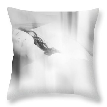 Lost In The Dreams. Boudoir Photography 7. Impressionism. Exclusively For Faa Throw Pillow by Jenny Rainbow