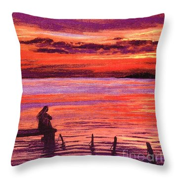 Lost In Wonder Throw Pillow by Jane Small
