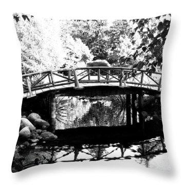 Lost Lagoon Bridge  Throw Pillow by Will Borden