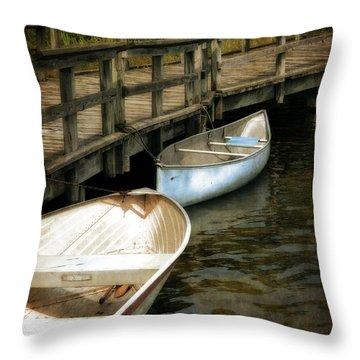 Lost Lake Boardwalk Throw Pillow by Michelle Calkins