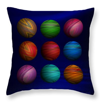 Lost My Marbles Throw Pillow by Mary Machare