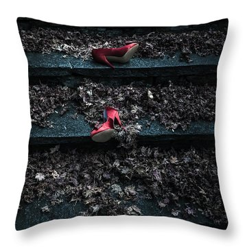 Lost Shoes Throw Pillow by Joana Kruse