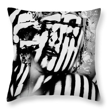 Lotus Lights Throw Pillow by Jessica Shelton