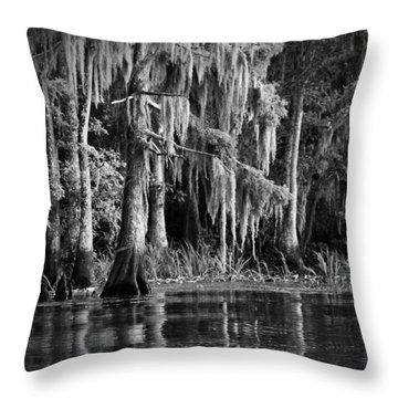 Louisiana Bayou Throw Pillow by Mountain Dreams