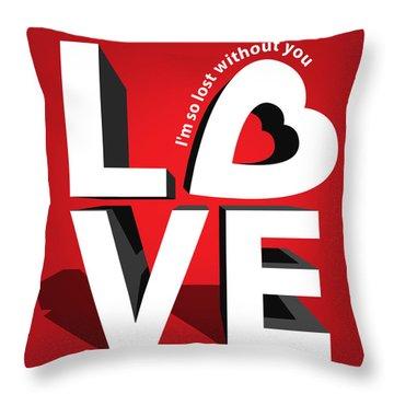 Love 3  Throw Pillow by Mark Ashkenazi
