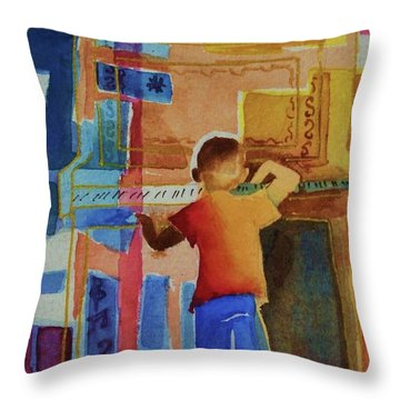 Love A Piano 1 Throw Pillow by Marilyn Jacobson