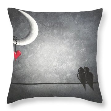 Love Birds Throw Pillow by Oddball Art Co by Lizzy Love