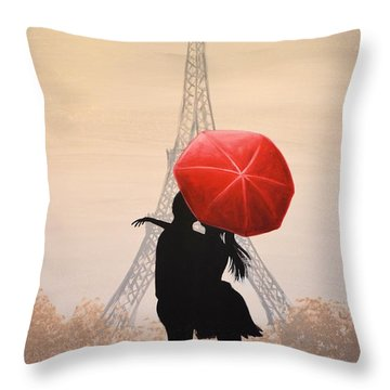 Love In Paris Throw Pillow by Amy Giacomelli