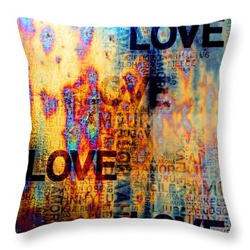 Love Throw Pillow by Jenny Rainbow
