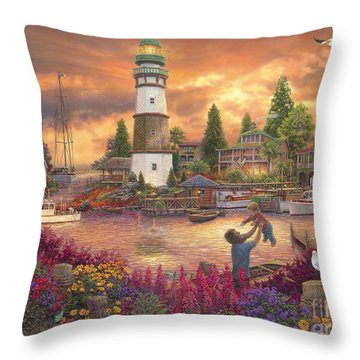 Love Lifted Me Throw Pillow by Chuck Pinson