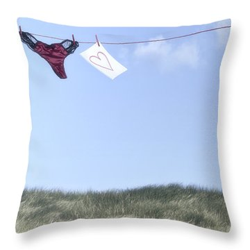 Love Message From Cloud 9 Throw Pillow by Joana Kruse
