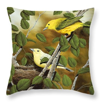 Love Nest Throw Pillow by Rick Bainbridge