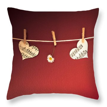 Love On The Line Throw Pillow by Jan Bickerton