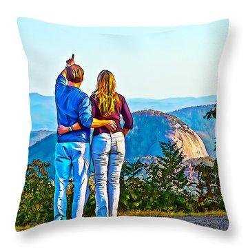 Love On The Rock Throw Pillow by John Haldane