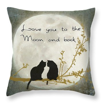 Love You To The Moon And Back Throw Pillow by Linda Lees