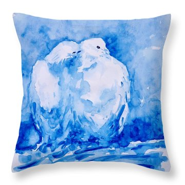 Love  Throw Pillow by Zaira Dzhaubaeva