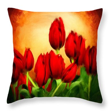 Lover's Hearts Throw Pillow by Lourry Legarde