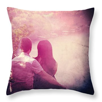 Lovestrong Throw Pillow by Trish Mistric