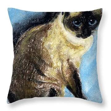 Lovey Throw Pillow by Jamie Frier