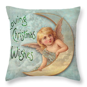 Loving Angel Wishes Throw Pillow by Sarah Vernon