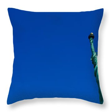 Low Angle View Of Statue Of Liberty Throw Pillow by Panoramic Images
