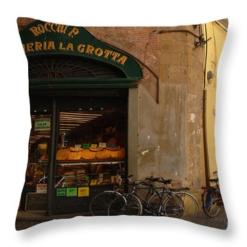 Lucca Italy Throw Pillow by Bob Christopher