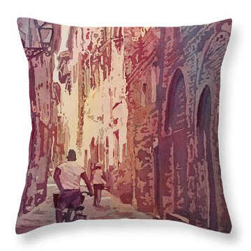 Lucca Throw Pillow by Jenny Armitage