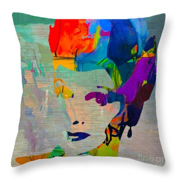 Lucille Ball Throw Pillow by Marvin Blaine
