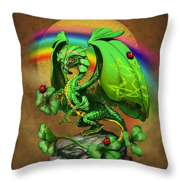Luck Dragon Throw Pillow by Stanley Morrison