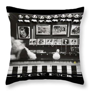 Lucky Duck Throw Pillow by Mike McGlothlen