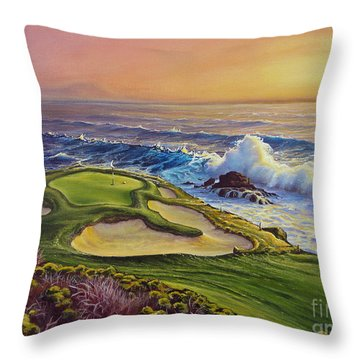 Lucky Number 7 Throw Pillow by Joe Mandrick