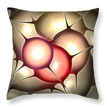Luminous Orbs Throw Pillow by Anastasiya Malakhova