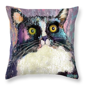 Luna Throw Pillow by Marlene Watson