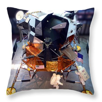 Lunar Module Throw Pillow by Kevin Fortier