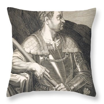 M Silvius Otho Emperor Of Rome Throw Pillow by Titian