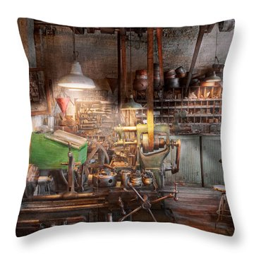 Machinist - It All Starts With A Journeyman  Throw Pillow by Mike Savad