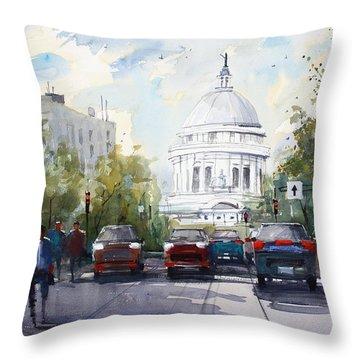 Madison - Capitol Throw Pillow by Ryan Radke
