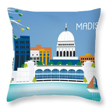Madison Throw Pillow by Karen Young