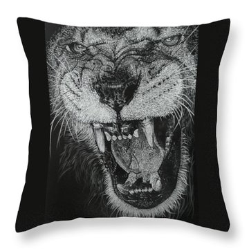 Madness Throw Pillow by Barbara Keith