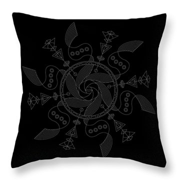 Maelstrom Inverse Throw Pillow by DB Artist