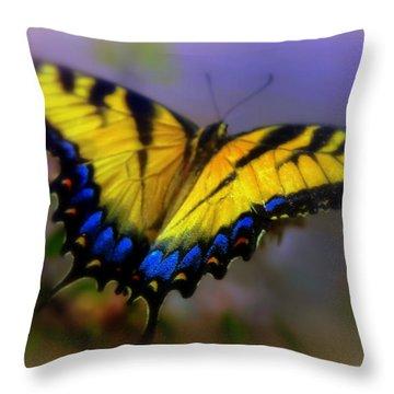 Magic Of Flight Throw Pillow by Karen Wiles